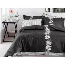 Луксозно спално бельо от сатениран памук- Artemis Fume от StyleZone