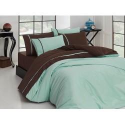 Луксозно спално бельо от висококачествен 100% сатениран памук - Suyesili & Koyukahve от StyleZone