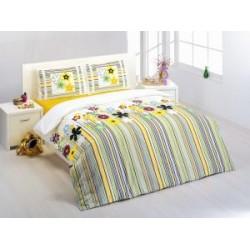 Спално бельо 100% памук с олекотена завивка -  РАЙЕ И ЦВЕТЯ от StyleZone