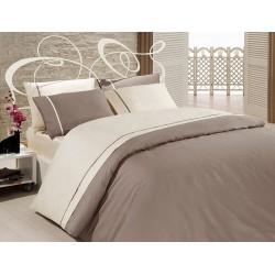 Луксозно спално бельо от висококачествен 100% сатениран памук - VIZON & KREM от StyleZone