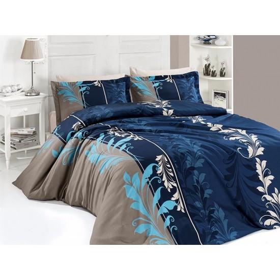 Луксозно спално бельо от сатениран памук- Eylul Petrol от StyleZone