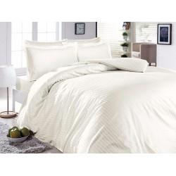Луксозно спално бельо от 100% сатениран памук -LINES STYLE KREM от StyleZone