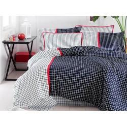 Луксозно спално бельо от сатениран памук- Hermia Lacivert от StyleZone