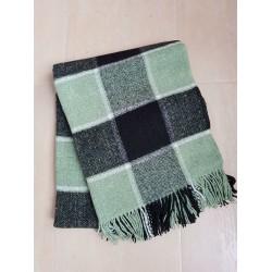 Вълнено карирано одеяло - ЗЕЛЕНО от StyleZone