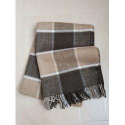 Вълнено карирано одеяло - КРЕМ от StyleZone