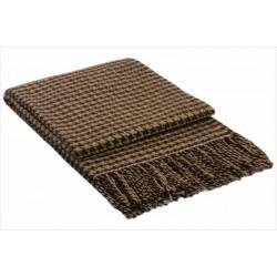 Вълнено пепитено одеяло - КАФЯВО от StyleZone