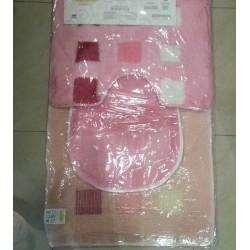 Комплект килимчета за баня 3 части - РОЗОВ от StyleZone