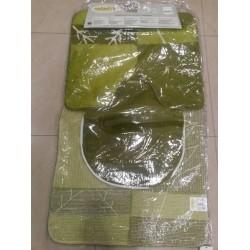 Комплект килимчета за баня 3 части - ЗЕЛЕН от StyleZone
