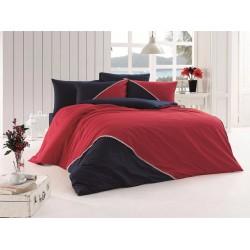 Луксозно спално бельо от висококачествен 100% памук - Jenna Kirmizi от StyleZone