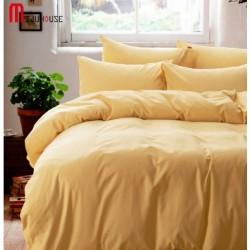 Едноцветно спално бельо от памучен сатен - СВЕТЛОЖЪЛТО от StyleZone