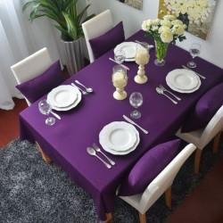 Едноцветна покривка за маса - ТЪМНОЛИЛА от StyleZone