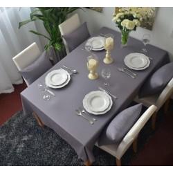 Едноцветна покривка за маса - ГРАФИТ  от StyleZone