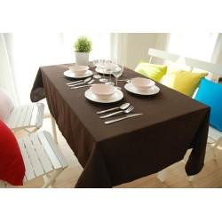 Едноцветна покривка за маса - ТЪМНОКАФЯВО от StyleZone