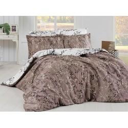 Луксозно спално бельо от  сатениран памук-  ZENA KAHVE от StyleZone