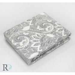 Стилно памучно одеяло  - ОРНАМЕНТИ В СИВО от StyleZone