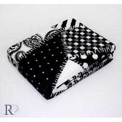 Стилно памучно одеяло  - ЧЕРНО/БЯЛ ПРИНТ от StyleZone
