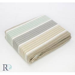 Стилно памучно одеяло  - МЕНТА И БЕЖОВО от StyleZone