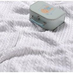 Испанско плетено одеяло LLUVIA БЯЛО от StyleZone