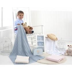 Испанско плетено одеяло LLUVIA СИНЬО от StyleZone