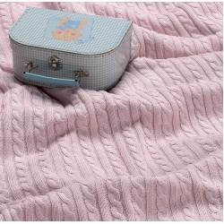 Испанско плетено одеяло LLUVIA РОЗОВО от StyleZone