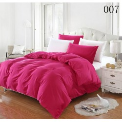 Двуцветно спално бельо от 100% памук ранфорс (циклама/бяло) от StyleZone