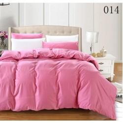 Двуцветно спално бельо от 100% памук ранфорс (бейби розово/бяло) от StyleZone