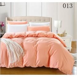 Двуцветно спално бельо от 100% памук ранфорс (цвят сьомга/бяло) от StyleZone