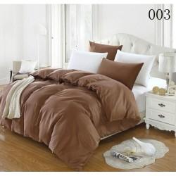 Двуцветно спално бельо от 100% памук ранфорс (кафяво/бяло) от StyleZone