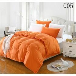 Двуцветно спално бельо от 100% памук ранфорс (оранж/бяло) от StyleZone