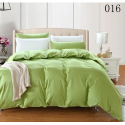 Двуцветно спално бельо от 100% памук ранфорс (лайм/бяло) от StyleZone