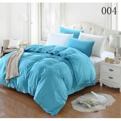 Двуцветно спално бельо от 100% памук ранфорс (морско/бяло) от StyleZone