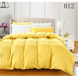 Двуцветно спално бельо от 100% памук ранфорс (патешко/бяло) от StyleZone