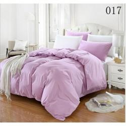 Двуцветно спално бельо от 100% памук ранфорс (светлолилаво/бяло) от StyleZone