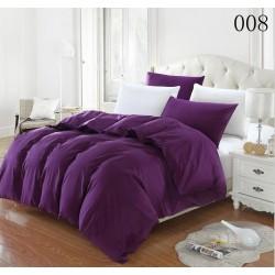 Двуцветно спално бельо от 100% памук ранфорс (тъмнолилаво/бяло) от StyleZone