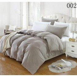 Двуцветно спално бельо от 100% памук ранфорс (светлосиво/бяло) от StyleZone