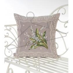 Испанска декоративна възглавница с цип - БЯЛО ЦВЕТЕ от StyleZone