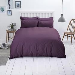 Едноцветно спално бельо от памучен сатен - ЦВЯТ БОРОВИНКА от StyleZone