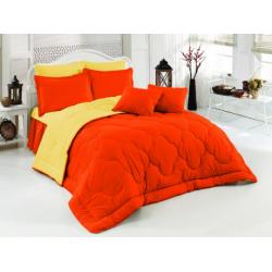 Двулицево шалте 100% памук (оранж/жълто) от StyleZone