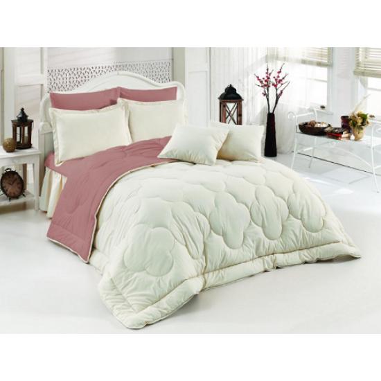 Двулицево шалте 100% памук (бяло/цвят лавандула) от StyleZone