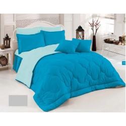 Двулицево шалте 100% памук (морско синьо/петролено) от StyleZone