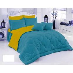 Двулицево шалте 100% памук (морско синьо/патешко) от StyleZone