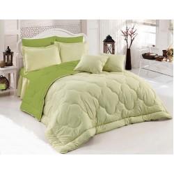 Двулицево шалте 100% памук (лайм/светлозелено) от StyleZone