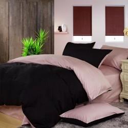 Двуцветно спално бельо от 100% памук (черно/пепел от рози) от StyleZone