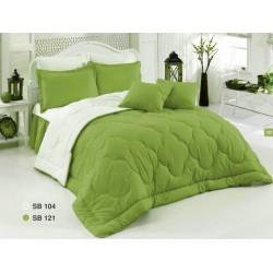 Двулицево шалте 100% памук (зелено/бяло) от StyleZone