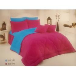 Двулицево шалте 100% памук (циклама/морско синьо) от StyleZone