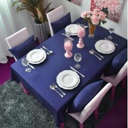 Едноцветна покривка за маса - ТЪМНОСИНЯ от StyleZone
