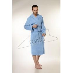 Едноцветен халат за баня 100% памук ритон - СВЕТЛОСИН от StyleZone