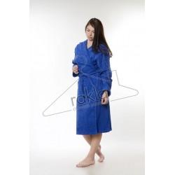 Едноцветен халат за баня 100% памук ритон - ТЪМНОСИНСИН от StyleZone