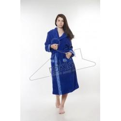 Халат за баня от висококачествен памук - ТЪМНОСИН от StyleZone