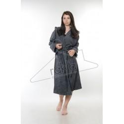 Халат за баня от висококачествен памук - ГРАФИТ от StyleZone
